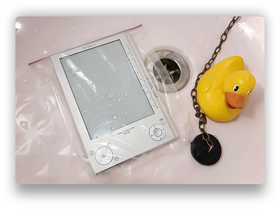 Sony Reader waterproof case 2