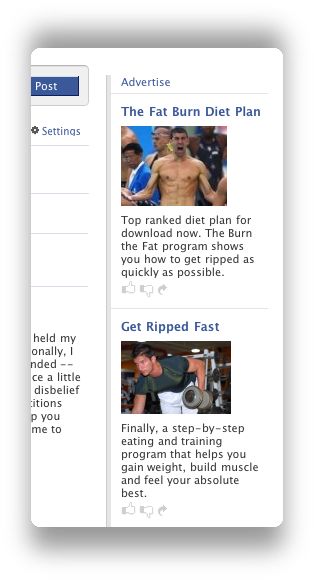 facebook flabby adverts