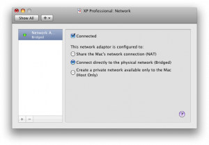 Vmware Fusion network settings