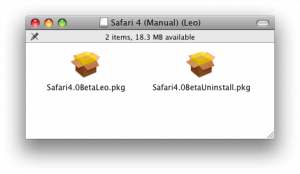 Safari 4 install